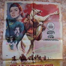 Cine: (CINE-649) EN LA CORTE DEL GRAN KHAN GORDON SCOTT YOKO TANI CIFESA JANO POSTER ORIGINAL. Lote 220867886