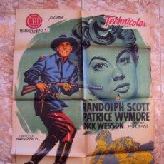Cine: (CINE-652)ERA EL COMANDANTE CALLICUT RANDOLPH SCOTT POSTER ORIGINAL. Lote 220868996