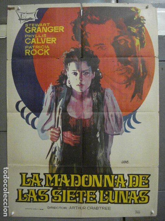 CDO 5985 LA MADONNA DE LAS SIETE LUNAS STEWART GRANGER PHYLLIS CALVER POSTER ORIGINAL 70X100 R-71 (Cine - Posters y Carteles - Suspense)