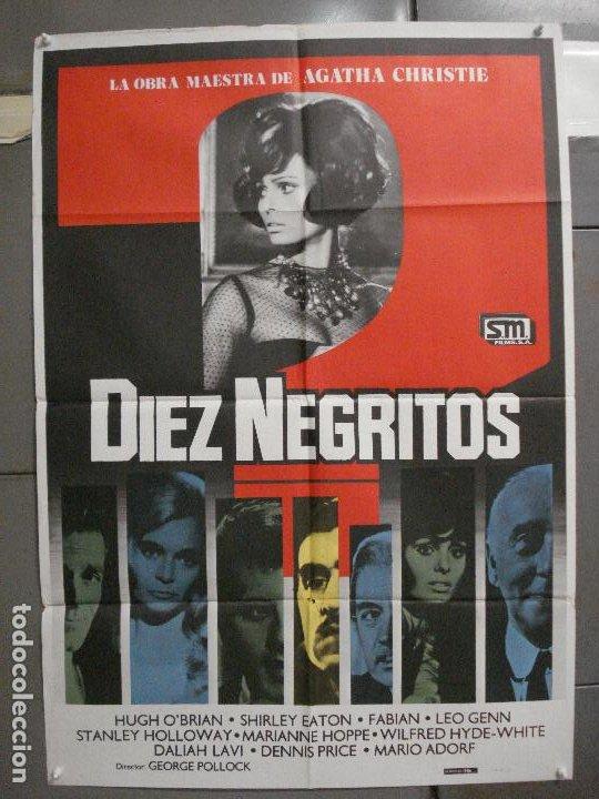 CDO 5989 DIEZ NEGRITOS SHIRLEY EATON AGATHA CHRISTIE POSTER ORIGINAL 70X100 ESPAÑOL R-82 (Cine - Posters y Carteles - Suspense)