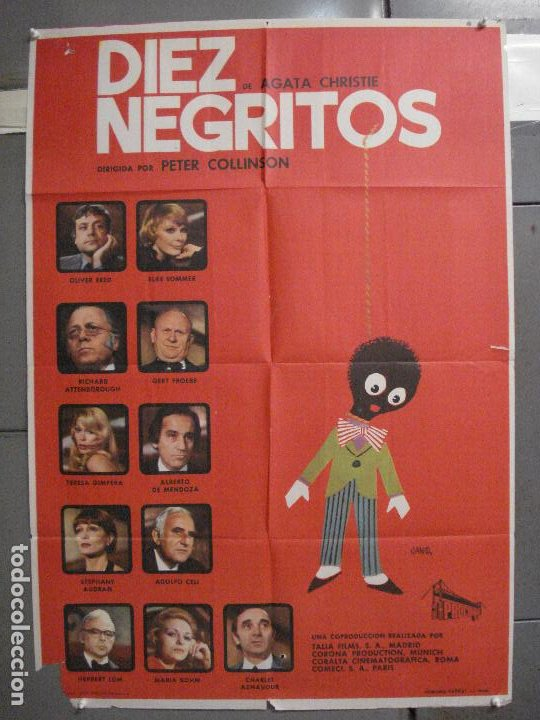 CDO 5991 DIEZ NEGRITOS AGATHA CHRISTIE ELKE SOMMER OLIVER REED POSTER ORIGINAL 70X100 ESTRENO (Cine - Posters y Carteles - Suspense)