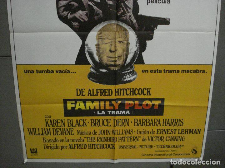Cine: CDO 5993 FAMILY PLOT LA TRAMA ALFRED HITCHCOCK POSTER ORIGINAL 70X100 ESTRENO - Foto 3 - 220946815