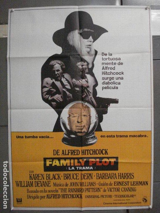 CDO 5993 FAMILY PLOT LA TRAMA ALFRED HITCHCOCK POSTER ORIGINAL 70X100 ESTRENO (Cine - Posters y Carteles - Suspense)