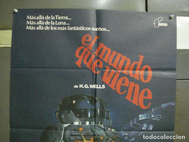 Cine: CDO 5995 EL MUNDO QUE VIENE JACK PALANCE H.G. WELLS SCI-FI POSTER ORIGINAL 70X100 ESTRENO - Foto 2 - 220948292