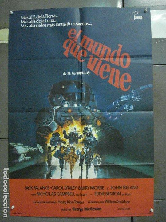CDO 5995 EL MUNDO QUE VIENE JACK PALANCE H.G. WELLS SCI-FI POSTER ORIGINAL 70X100 ESTRENO (Cine - Posters y Carteles - Ciencia Ficción)