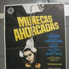 Cine: CDO 5996 MUÑECAS AHORCADAS BARBARA PARKINS JANO POSTER ORIGINAL 70X100 ESTRENO. Lote 220948993