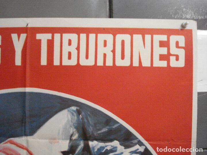 Cine: CDO 5998 HOMBRES Y TIBURONES SUBMARINISMO DOCUMENTAL POSTER ORIGINAL 70X100 ESTRENO - Foto 6 - 220949351