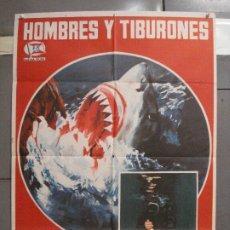 Cine: CDO 5998 HOMBRES Y TIBURONES SUBMARINISMO DOCUMENTAL POSTER ORIGINAL 70X100 ESTRENO. Lote 220949351
