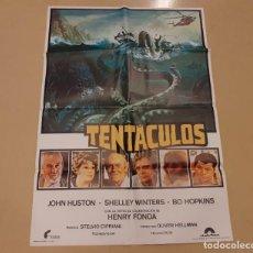 Cine: TENTÁCULOS CARTEL ORIGINAL ESTRENO 1978 JOHN HUSTON, HENRY FONDA. Lote 220950106
