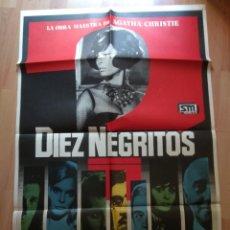 Cine: POS-- POSTER DE LA PELICULA -.. DIEZ NEGRITOS. Lote 220960346