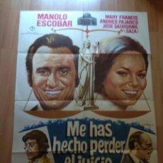 Cine: POS-- POSTER DE LA PELICULA -. ME HAS HECHO PERDER EL JUICIO. Lote 220961645