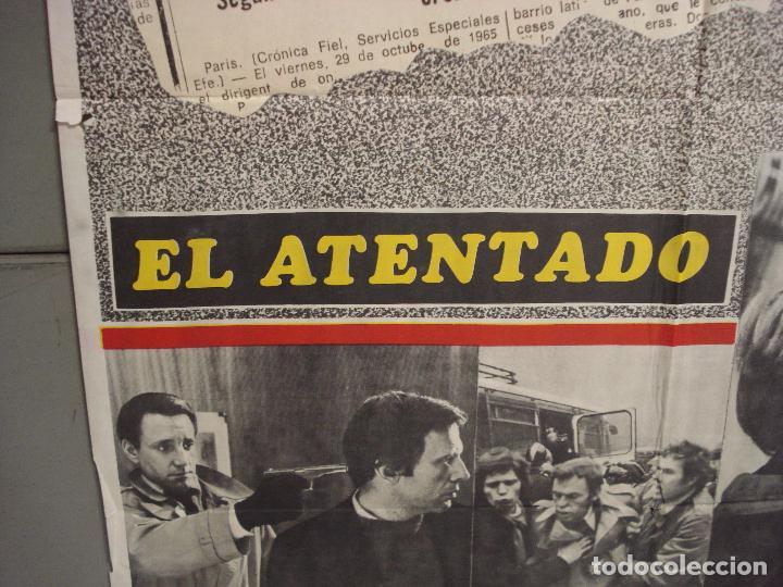 Cine: CDO 6036 EL ATENTADO JEAN-LOUIS TRINTIGNANT POSTER ORIGINAL 70X100 ESTRENO - Foto 4 - 220967936