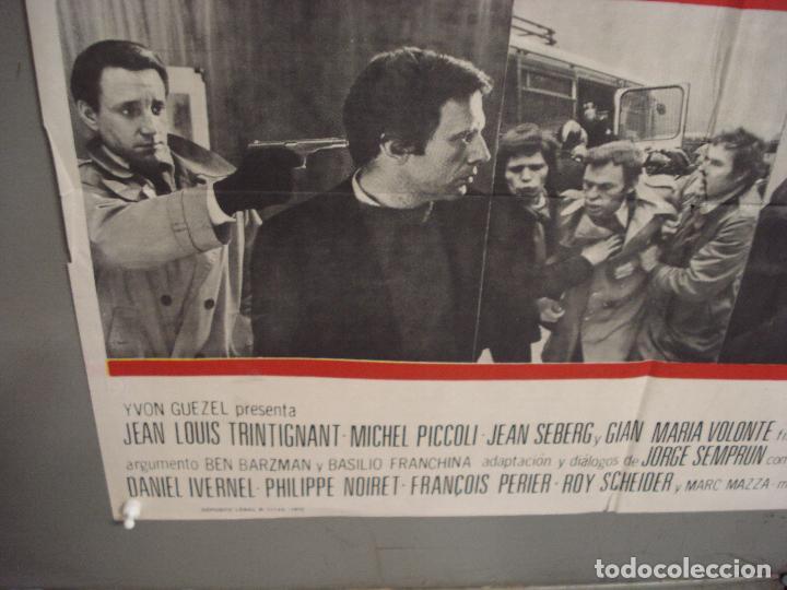 Cine: CDO 6036 EL ATENTADO JEAN-LOUIS TRINTIGNANT POSTER ORIGINAL 70X100 ESTRENO - Foto 5 - 220967936