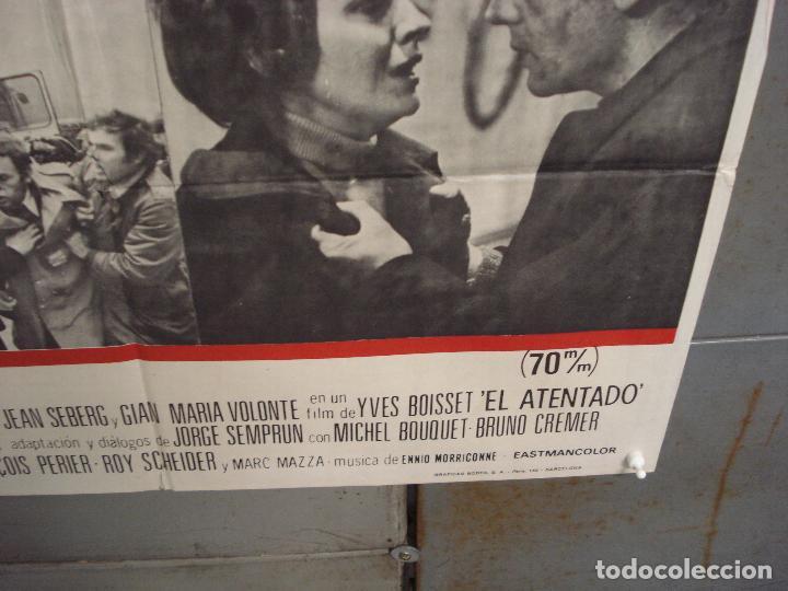 Cine: CDO 6036 EL ATENTADO JEAN-LOUIS TRINTIGNANT POSTER ORIGINAL 70X100 ESTRENO - Foto 9 - 220967936