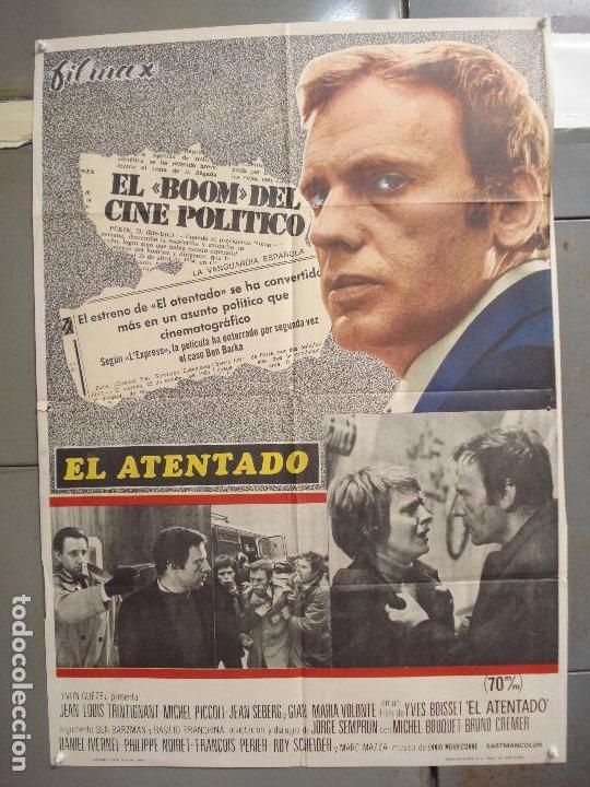 CDO 6036 EL ATENTADO JEAN-LOUIS TRINTIGNANT POSTER ORIGINAL 70X100 ESTRENO (Cine - Posters y Carteles - Suspense)