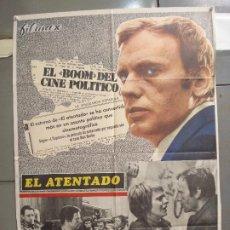 Cine: CDO 6036 EL ATENTADO JEAN-LOUIS TRINTIGNANT POSTER ORIGINAL 70X100 ESTRENO. Lote 220967936