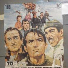 Cinema: CDO 6037 LOS CAÑONES DE NAVARONE GREGORY PECK JANO POSTER ORIGINAL 70X100 ESPAÑOL R-70. Lote 220968515