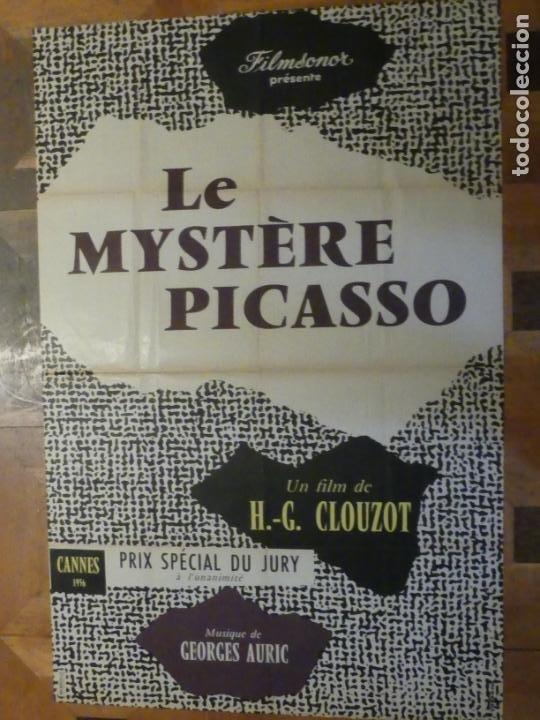 Cine: le mystere picasso - poster cartel original frances - H.G. Clouzot Pablo ruiz Picasso - Foto 3 - 220986718