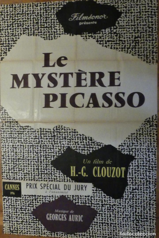 LE MYSTERE PICASSO - POSTER CARTEL ORIGINAL FRANCES - H.G. CLOUZOT PABLO RUIZ PICASSO (Cine - Posters y Carteles - Documentales)