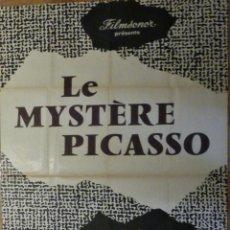 Cinema: LE MYSTERE PICASSO - POSTER CARTEL ORIGINAL FRANCES - H.G. CLOUZOT PABLO RUIZ PICASSO. Lote 220986718
