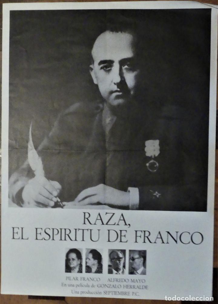 RAZA EL ESPIRITU DE FRANCO - POSTER CARTEL ORIGINAL - ALFREDO MAYO GONZALO HERRALDE (Cine - Posters y Carteles - Documentales)