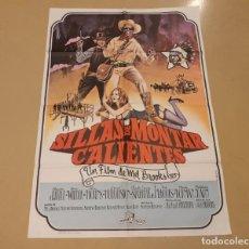 Cinema: SILLAS DE MONTAR CALIENTES CARTEL ORIGINAL ESTRENO 1975 MEL BROOKS, GENE WILDER. Lote 221095597