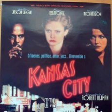 Cine: KANSAS CITY. POSTER ORIGINAL. (ROBERT ALTMAN 1996). Lote 221124980