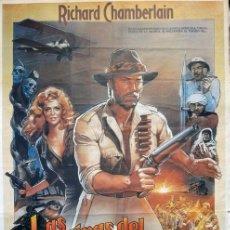 Cine: LAS MINAS DEL REY SALOMON. POSTER ORIGINAL. (J.LEE THOMPSON, 1985). Lote 221127628