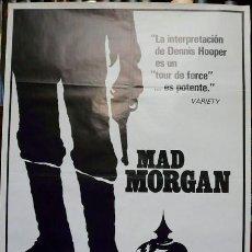 Cine: MAD MORGAN. POSTER ORIGINAL. VERSIÓN 2 (PHILIPPE MORA, 1976). Lote 221135105