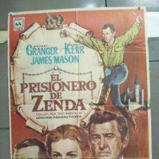 Cine: CDO 6067 EL PRISIONERO DE ZENDA STEWART GRANGER DEBORAH KERR ALVARO POSTER ORIGINAL 70X100 R-67. Lote 221135375