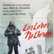 Cine: LOS LOBOS NO LLORAN, POSTER ORIGINAL. (CARROLL BALLARD, 1983). Lote 221136067