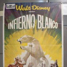 Cine: CDO 6080 INFIERNO BLANCO WALT DISNEY DOCUMENTAL ARTICO LEMMINGS POSTER ORIGINAL ESTRENO 70X100. Lote 221146502