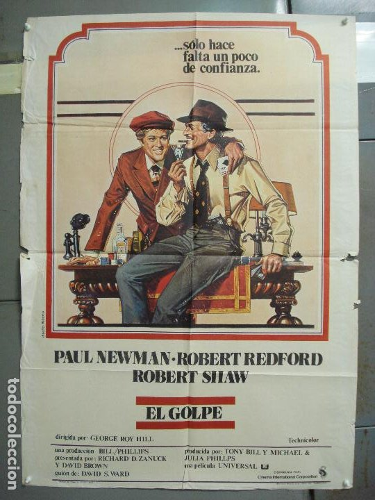 CDO 6082 EL GOLPE PAUL NEWMAN ROBERT REDFORD POSTER ORIGINAL 70X100 ESTRENO (Cine - Posters y Carteles - Suspense)
