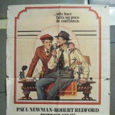 Cine: CDO 6082 EL GOLPE PAUL NEWMAN ROBERT REDFORD POSTER ORIGINAL 70X100 ESTRENO. Lote 221147112
