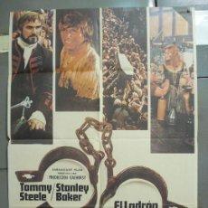 Cine: CDO 6085 EL LADRON REBELDE TOMMY STEELE STANLEY BAKER JAMES CLAVELL POSTER ORIGINAL 70X100 ESTRENO. Lote 221148290