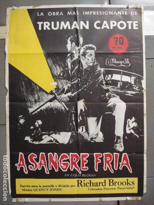 CDO 6099 A SANGRE FRIA ROBERT BLAKE RICHARD BROOKS POSTER ORIGINAL 70X100 ESTRENO (Cine - Posters y Carteles - Suspense)