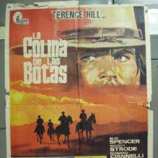 Cine: CDO 6110 LA COLINA DE LAS BOTAS BUD SPENCER TERENCE HILL POSTER ORIGINAL 70X100 ESTRENO. Lote 221258195