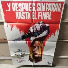 Cine: Y DESPUÉS SIN PARAR HASTA EL FINAL HAMMER POSTER ORIGINAL 70X100 YY (2442). Lote 221259837