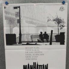 Cine: MANHATTAN. WOODY ALLEN, DIANE KEATON, MARIEL HEMINGWAY, AÑO 1984. POSTER ORIGINAL - PAPEL SATINADO. Lote 221260633