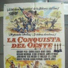 Cine: CDO 6112 LA CONQUISTA DEL OESTE JOHN WAYNE POSTER ORIGINAL 70X100 ESPAÑOL R-84. Lote 221270835