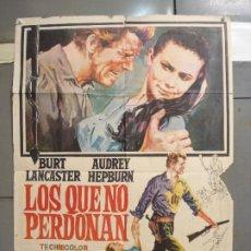 Cine: CDO 6114 LOS QUE NO PERDONAN AUDREY HEPBURN BURT LANCASTER POSTER ORIGINAL 70X100 ESPAÑOL R-71. Lote 221271528