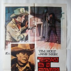 Cine: CARTEL CINE TESORO EN LA FRONTERA 1968 ESC C743. Lote 221278243