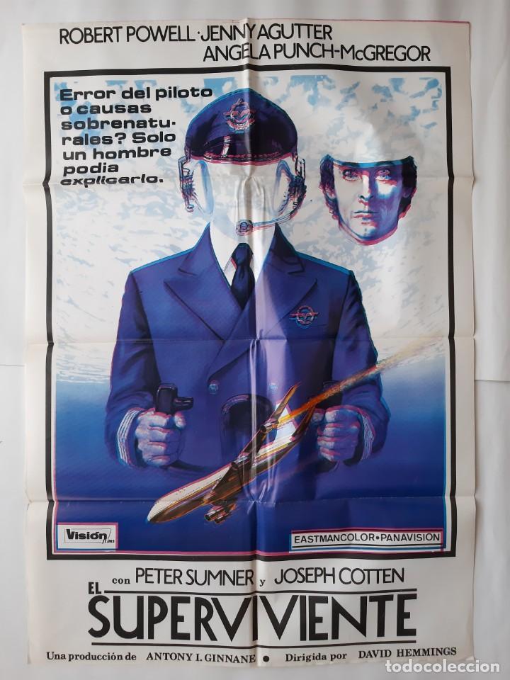 CARTEL CINE EL SUPERVIVIENTE C749 CARTEL CON DOBLE IMAGEN (Cine - Posters y Carteles - Acción)