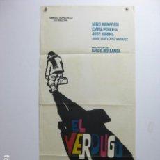 Cine: EL VERDUGO - POSTER CARTEL ORIGINAL BERLANGA JOSE ISBERT EMMA PENELLA MAC 33X70. Lote 221280951