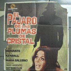 Cine: CDO 6127 EL PAJARO DE LAS PLUMAS DE CRISTAL DARIO ARGENTO POSTER ORIGINAL 70X100 DEL ESTRENO B. Lote 221289792