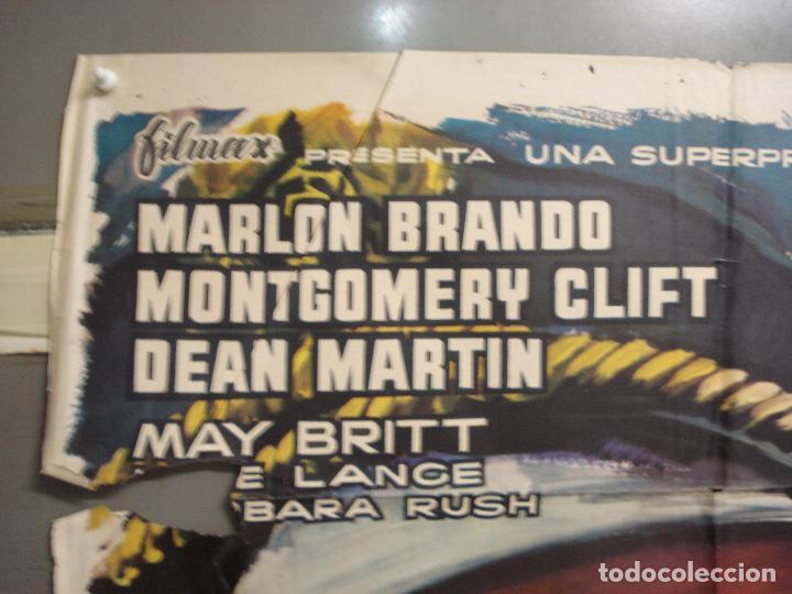 Cine: CDO 6129 BAILE DE LOS MALDITOS MARLON BRANDO MONTY CLIFT DEAN MARTIN MCP POSTER ORIG ESTRENO 70X100 - Foto 2 - 221291830