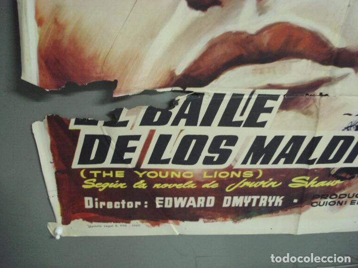 Cine: CDO 6129 BAILE DE LOS MALDITOS MARLON BRANDO MONTY CLIFT DEAN MARTIN MCP POSTER ORIG ESTRENO 70X100 - Foto 5 - 221291830