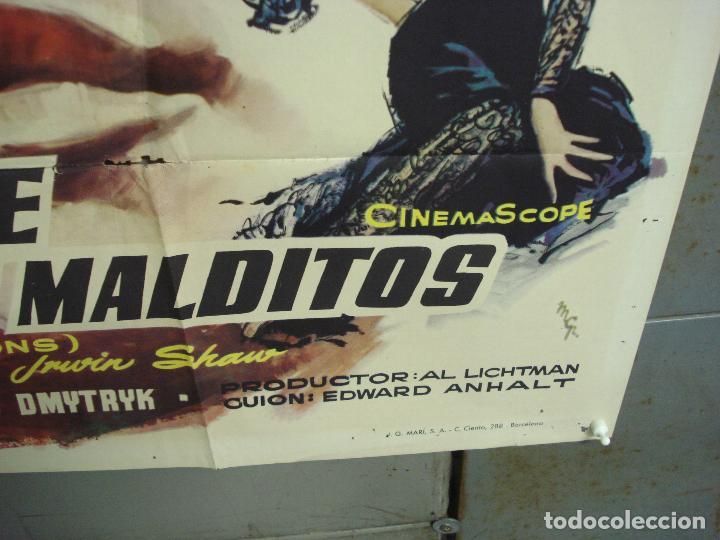 Cine: CDO 6129 BAILE DE LOS MALDITOS MARLON BRANDO MONTY CLIFT DEAN MARTIN MCP POSTER ORIG ESTRENO 70X100 - Foto 9 - 221291830