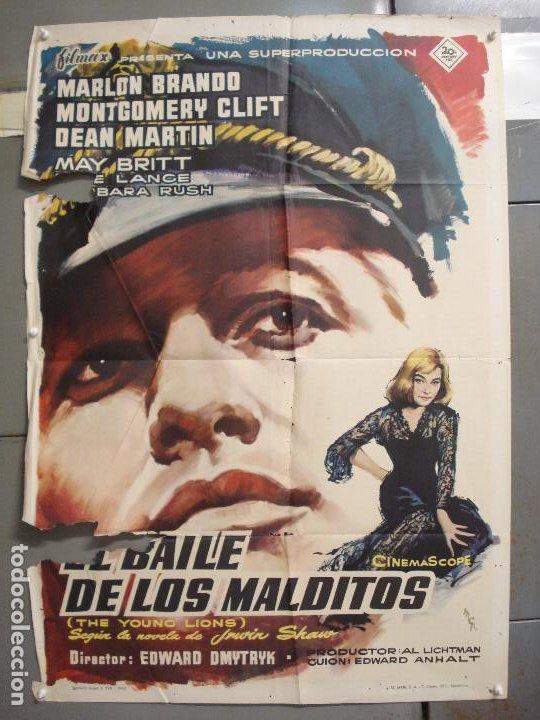 CDO 6129 BAILE DE LOS MALDITOS MARLON BRANDO MONTY CLIFT DEAN MARTIN MCP POSTER ORIG ESTRENO 70X100 (Cine - Posters y Carteles - Bélicas)