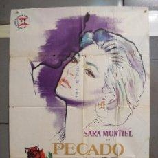 Cine: CDO 6131 PECADO DE AMOR SARA MONTIEL MAC POSTER ORIGINAL ESTRENO 70X100. Lote 221293182